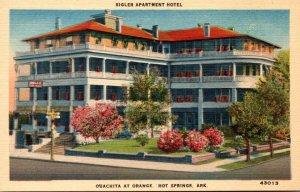 Arkansas Hot Springs Sigler Apartment Hotel