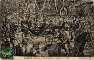CPA Arrivée du Président de la République a NICE 25 Avril 1909 (351112)