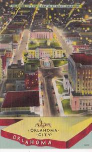 Oklahoma Oklahoma City Civic Center At Night