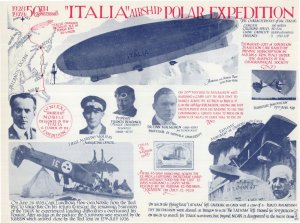 Italia Airship Polar Expedition Tromsco Disaster Plane Crash Rare Postcard