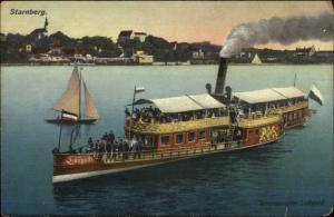 Starnberg Germany Steamer Boat Salondampfer Luitpold c1910 Postcard