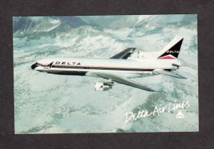 Delta Airlines, Delta airplane, Air Plane L 1011 Tristar Aviation Postcard