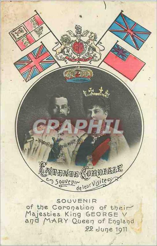 CPA Souvenir of the coronation of their majesties king george V and mary queen o