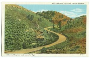 Telephone Canyon on Lincoln Highway, Between Cheyenne and Laramie, Wyoming,