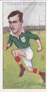 Players Vintage Cigarette Card Footballers Caricatures RIP 1926 No 46 M Sugden
