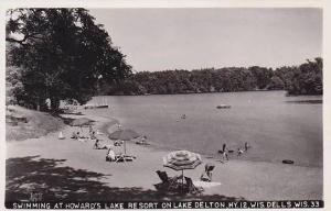 Wisconsin Wisconsin Dells Swimming At Howards Lake Resort On Lake Delton Real...