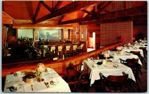 Rockton, Ill. Postcard BUCHANAN'S FRONTIER INN Manitou Cocktail Lounge 1950s