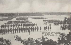 CAMP LEE, Virginia, 1910-20s; Troops on Review