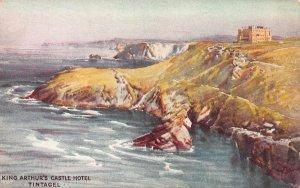 King Arthur's Castle Hotel, Tintagel, England, Early Postcard, Unused