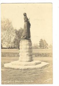 RP, Evangeline Statue, Grand Pre, Nova Scotia, Canada, PU-1949 Macaulay