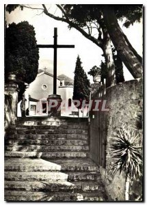 Modern Postcard Menton M N D of the Annunciation ariv?e on the Terrace