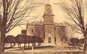 Fairport New York~High School~Victorian Style~1911 Sepia Postcard