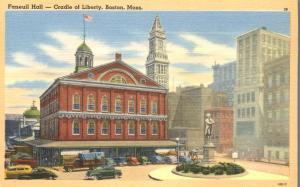 Faneuil Hall - Cradle of Liberty - Boston MA, Massachusetts - Linen