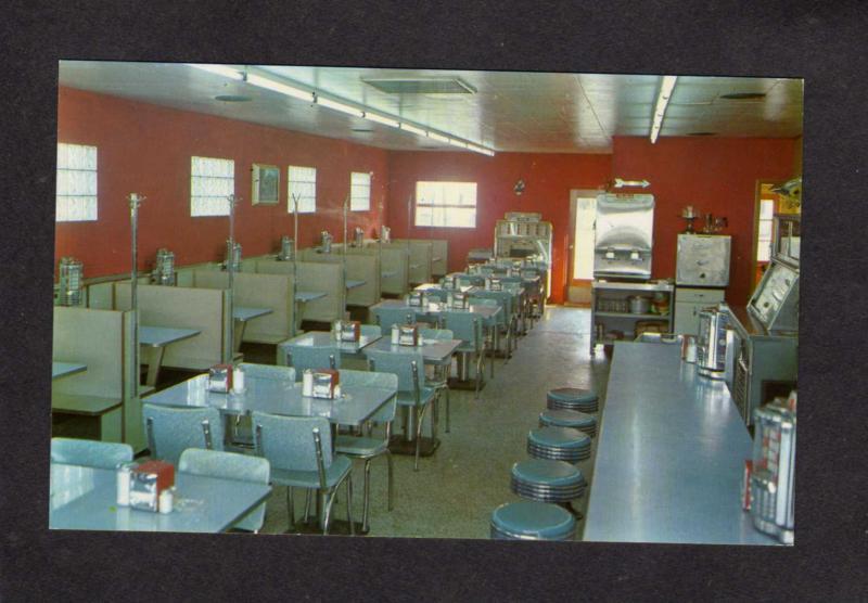 MI Mack's Lunch Diner Restaurant Coldwater Michigan Postcard Interior