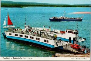 Sandbanks to Studland Car Ferry Dorset England UK c1974 Postcard F58