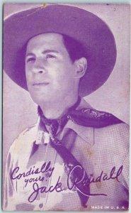 Vintage Cowboy Actor Mutoscope Arcade Card JACK RANDALL Westerns Film c1940s