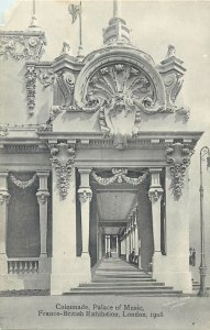 Postcard exhibitions Colonnade Palace of Music Franco British London 1908