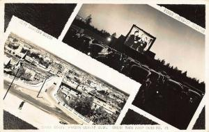 Aerial View of Prince Albert Sask. Canada & Drive-in Theatre Real Photo Postcard