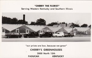 Kentucky Paducah Cherry's Greenhouses Cherry The Florist Real Photo sk608