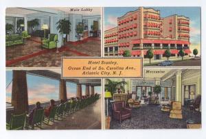 Hotel Stanley Atlantic City NJ Vintage Tichnor Linen