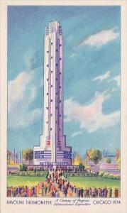 Havoline Thermometer International Expostion Chicago Illinois 1934
