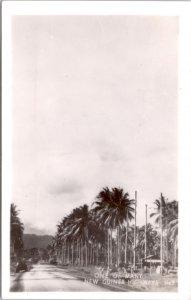 RPPC-Paupa, New Guinea One of Many New Guinea Highways WWII No. 9 Grogan Photo