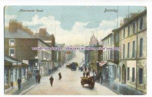 aj0407 - Manchester Road , Burnley , Lancashire - postcard
