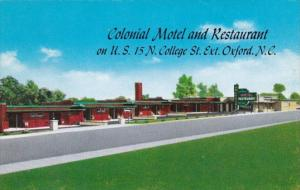 North Carolina Oxford Colonial Motel and Restaurant