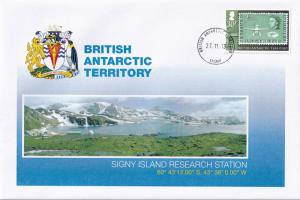 Signy Island Research Station British Antarctic Territory Stamp Rare FDC