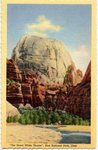 UT - Zion National Park. The Great White Throne