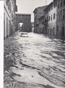 FIRENZE, Toscana, Italy, 1960's; Porta S. Frediano, Flood