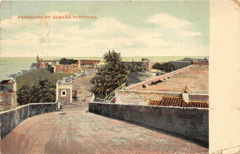 Havana Cuba 1908 Postcard Panorama of Cabana Fortress