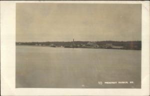Prospect Harbor ME General View c1910 Real Photo Postcard Birch Harbor Cancel