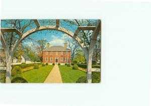 Vintage Postcard George Wythe House Garden View Washington Yorktown   # 2866