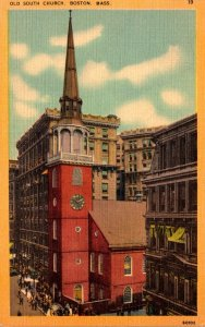 Massachusetts Boston Old South Church 1941