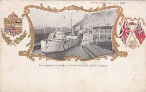 Boats in Canal, SAULT STE MARIE , Ontario , Canada , 00-10s