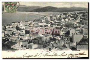 Old Postcard Tangier Morocco The Town