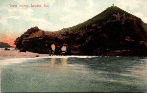 California Laguna The Three Arches 1907