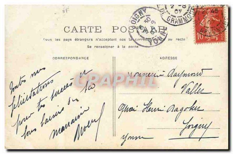 Old Postcard Paris Champs Elysees