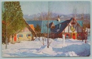 Wilmington New York~Adirondack Mountains~Snowy Santa's Workshops~1950s