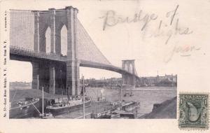 NEW YORK CITY EAST RIVER BRIDGE~J KOEHLER #52 POSTCARD 1905 PM TIMBER COTE VUE