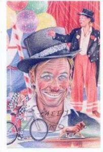 Autographed Circus Clown Postcard,  CHEEKO , 1998