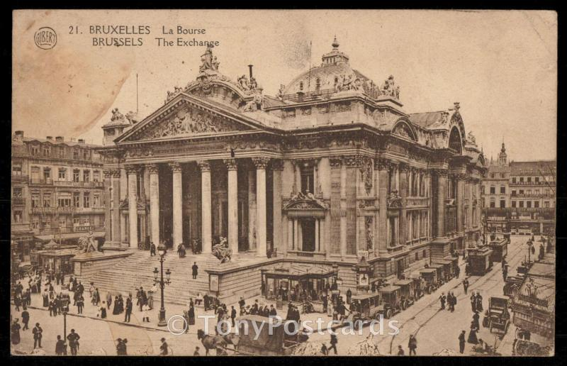Bruxelles - La Bourse Brussels - The Exchange