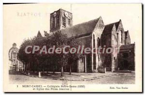 Old Postcard Mont Cassel Collegiate Notre Dame