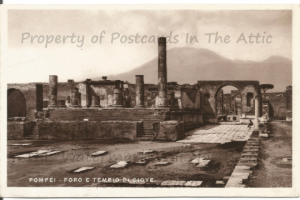 Pillars and Temple of Jupiter of Pompeii Historic Site Real Photograph Postcard