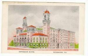 Jefferson hotel, Richmond 30-40s