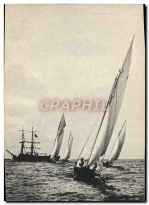 Postcard Old Boat Sailboat regatta Arcachon