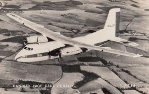 Handley Page Herald Military Plane Vintage Valentines Postcard