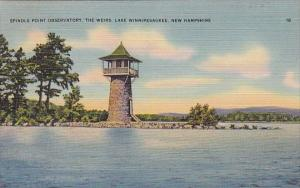 New Hampshire Lake Winnipesaukee Spindle Point Observatory The Weirs 1946