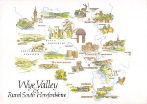 uk34402 wye valley rural south herefordshire uk map cartes geograhique